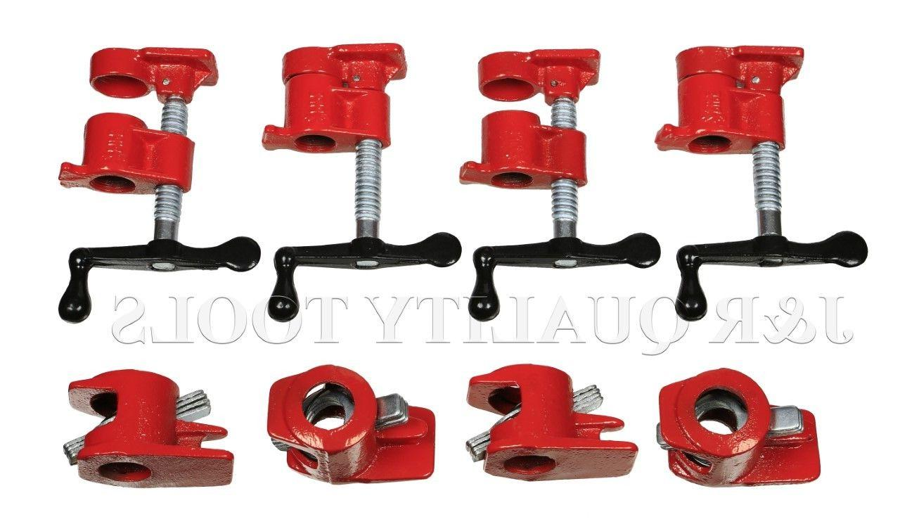 """3/4"""" Wood Gluing Pipe Clamp Set Heavy Duty PRO Woodworking"""