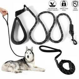 Large Heavy Duty Braided Nylon Dog Leash with Handle for Dog