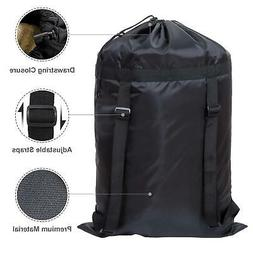 Laundry Bag Backpack Heavy Duty Laundry Hamper with 2 Strong
