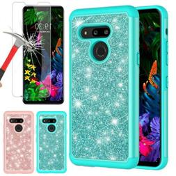 For LG G8 ThinQ G820 Phone Case Shockproof Bling Rubber Hybr