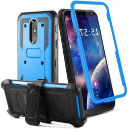 LG Stylo 5 Case Heavy Duty Full-Body Armor Swivel Belt Clip