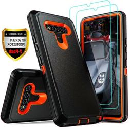 For LG Stylo 6/5/4 Case Heavy Duty Shockproof Armor Cover+Gl