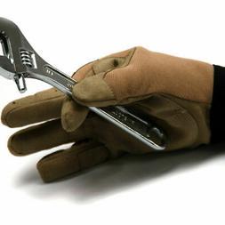 Lot 12-Pair Heavy Duty Work Gloves Tan Mechanic Garden Synth