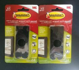 Lot Of 2 3M Command Large Picture Hanging Strips 16lb Black