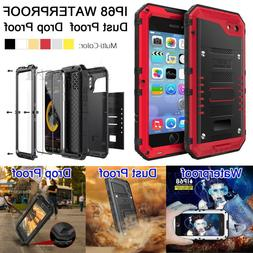 Luxury Shockproof Military Aluminum Metal Glass Case Cover f