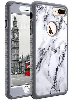 iPhone 8 Plus Case ULAK Marble Heavy Duty Shockproof TPU Bum