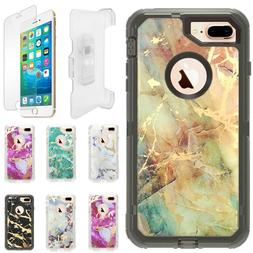 Marble Defender Case For iPhone 6S/7/8 Plus XR/Max W/Screen