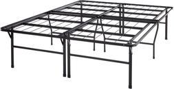 """Mattress Queen Bed Frame 18"""" Metal Platform Bed Frame W/Heav"""