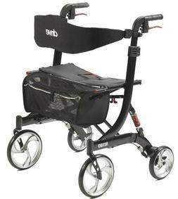 Drive Medical Heavy Duty Nitro Rollator Folding Walker Adult