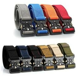 Men's Tactical Military Belt Training Heavy Duty Nylon Quick