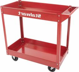 Metal Service Utility Cart, Heavy Duty Supply Cart with Two