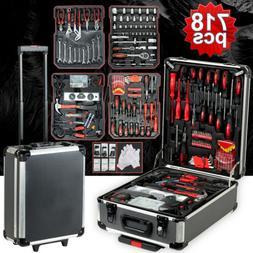 918 pcs Standard Metric Mechanics Kit Tool Set Case Box Orga