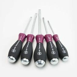 Wiha Tools 817-53390 5Pc Microfinish Heavy Duty Slotted-Phi