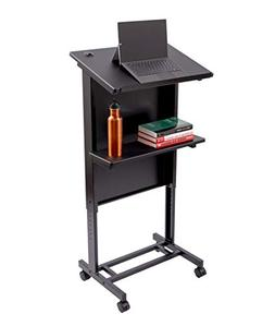 Stand Up Desk Store Mobile Adjustable Height Lectern Podium,