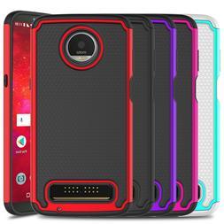 For Motorola Moto Z3/Play Case Hard Armor Shockproof Silicon