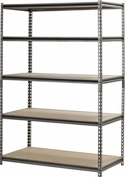 Muscle Rack 5-Shelf Steel Shelving, Silver-Vein, Tall Heavy