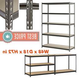 Adjustable Heavy Duty Metal Rack Shelves Storage Garage 5 le