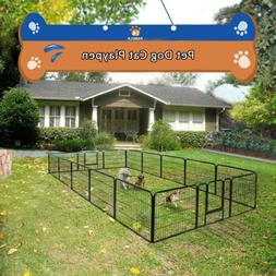New 16 Panel Heavy Duty Metal Cage Crate Pet Dog Fence Exerc