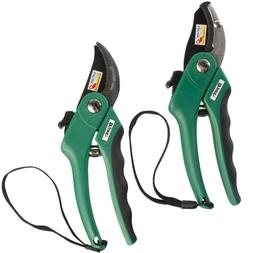 New Anvil & Bypass Hand Pruner Set Gardening Scissors Heavy
