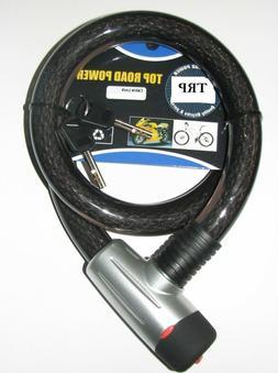 NEW HEAVY DUTY LOCK 25MM DIAMETER STEEL CABLE  2-KEYS BICYCL