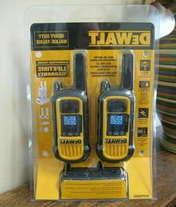 NEW!! Dewalt Heavy Duty Walkie-Talkie Two Way Radio System