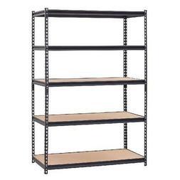 New Muscle Rack Heavy-Duty 5-Shelf Steel Shelving 48x24x72 G