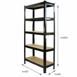 New Muscle Rack Heavy Duty 5 Shelf Steel Shelving 150x75x30