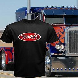 new Peterbilt heavy duty trucks Truck Logo Mens Black T Shir