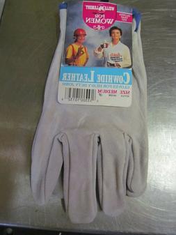 NEW Wells Lamont Women Cowhide Heavy Duty Work Garden Gloves