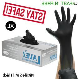 Nitrile Gloves 100 pcs Black  X Large Size 6 Mil Thick