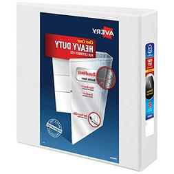 Avery Nonstick Heavy-Duty EZD Reference View Binder, White,