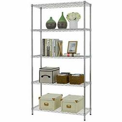 NSF Wire Shelf Metal 5 Shelving Unit Garage Large Storage Sh