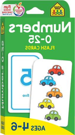 Numbers Educational Flash Cards Toddlers Learning Preschool