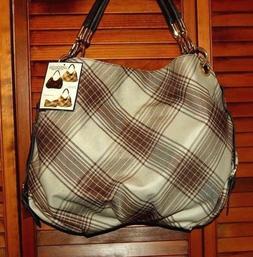 NWT ~ LONDON FOG Reversible Shoulder Handbag with Removable