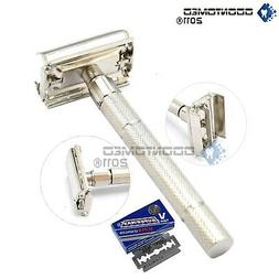 Old Fashioned Safety Razor Heavy Duty Butterfly Style With 5