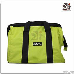 Ryobi One Contractors Canvas Green Wide-Mouth Tool Bag