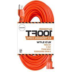 100 Ft Orange Extension Cord - 16/3 SJTW Heavy Duty Outdoor
