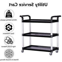 Oshion Heavy-Duty 3-Shelf Rolling Service/Utility/Push Cart.