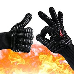 Oven Gloves Heat Resistant Mitts, Extreme 932°F BBQ Cooking
