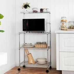 Microwave Cart with Storage Rack Oven Toaster Stand Shelves