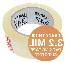"""Harbor 347 Packaging Packing Tape 1 Roll 3.2 mil 1.88"""" x 60"""