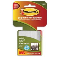 Command 3M 12ct Pack Picture & Frame Hanging Strips Sets Med
