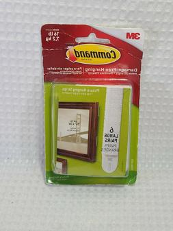 Command Large Picture Hanging Strips, White, 6 Sets of Strip