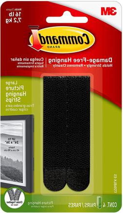 Command Picture Hanging Strips Heavy Duty Large Black Holds
