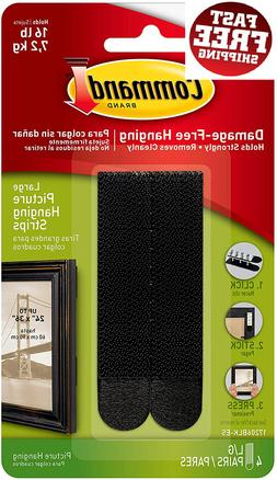 Command Picture Hanging Strips Heavy Duty, Large, Black, Hol