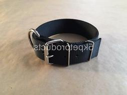 "LARGE DOG COLLAR  2"" WIDE DOUBLE PLY NYLON HEAVY DUTY DOG CO"