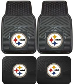 Pittsburgh Steelers Heavy Duty Floor Mats 2 & 4 Pc Sets for