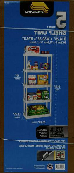 Plano 5-Tier Heavy-Duty Plastic Organizer Home Sturdy Storag
