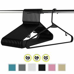 Neaterize Plastic Clothes Hangers| Heavy Duty Durable Coat a