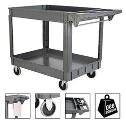 TUFFIOM Plastic Service Utility Cart, Support up to 550lbs C